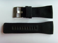 Diesel original LW cuero textil uhrband dz7223 negro 34 mm watch Strap