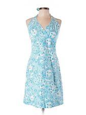 Women Lilly Pulitzer Golden Lion Blue Halter Summer Sun Dress Size 10