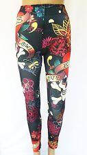 Muster Leggings Leggins Treggings Hose Leggin bunt farbig 34 36 S 11011