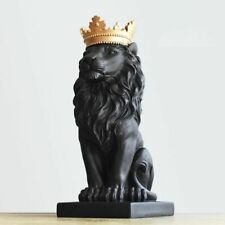 Sculptures Art Crown Lion Resin Statues Ornament Handsome Crafts Home Decoration