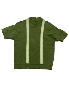 VINTAGE tri-tone GREEN knit SEARS short sleeve VINTAGE