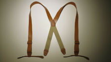 """1 1/2 or 2"""" WIDE X  Leather Suspender Button On Heavy Duty Ears USA MADE"""