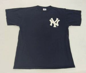 Derek Jeter #2 New York Yankees Vintage Majestic T-shirt Size Mens XL Blue MLB