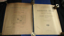 Two large early Wyoming U.S. Geological Survey Folios, sold as a lot.