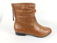 Monsoon Tan Leather Ankle Boots Uk 3 Eu 36