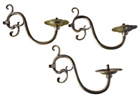 3 Ancienne applique Chandelier laiton bronze suspension lustre deco mural