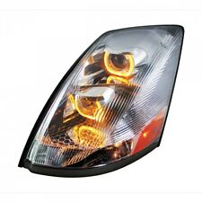 Volvo VN/VNL Projection Headlight with LED Light Bar, Chrome - Driver Side