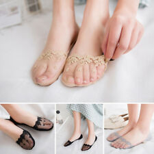 Women Elastic Summer Lace Antiskid Invisible Loafer Low Cut Ballet Boat Socks