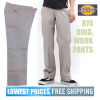 Dickies NWT Men's 874 Silver Grey Original Uniform Work Long Pants Free Shipping