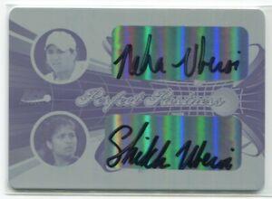 2013 Ace Authentic Perfect Partners Printing Plate Neha Shikha Uberoi Auto 1/1