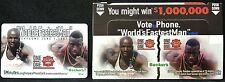 "BECKER'S ""WORLD'S FASTEST MAN"" Phone card - Donovan Bailey & Michael Johnson"
