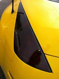 "15"" x 120"" Black Dark Glossy Tint Headlight Taillight Vinyl Film Sheet any car"
