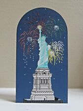 Cat's Meow Statue of Liberty, Night, Fireworks, National Treasures, Faline 1998