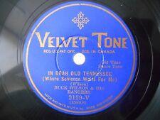 78 rpm odd 1930 JUG Band BUCK WILSON & HIS RANGERS In Dear Old Tennessee HEAR