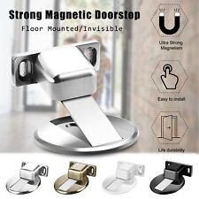 Magnetic Invisible Door Stop Floor Mount Adhesive Catch Door Stopper Security
