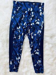 Womens Adidas Tights Leggings Blue Black XL