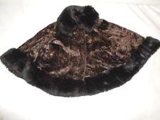 FANTASTIC Vintage Runway Faux Fur Broadtail Persian Lamb FOX Swing CAPE Coat
