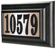 Lighted Address Sign in Black