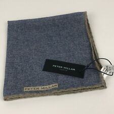 RARE! Peter Millar 100% Wool Blue  Handkerchief Pocket Square NWT
