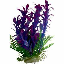 New listing Purple Aquarium Plant with Base 9 Inch Tall Aquarium Fish Tank Plant Decoration