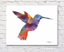 "Hummingbird Abstract Painting 11"" x 14"" Art Print Artist DJ Rogers"