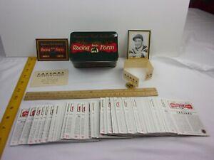 Daily Racing Form 100th anniversary trading card set in tin box Caesars simulcas