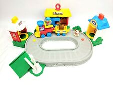 Fisher Price Little People Train Track Set Dog Horse Driver Toy Collectable