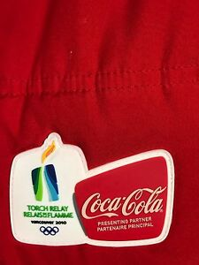 Coca Cola Vancouver 2010  Olympic Games Women's Red Jacket Size M