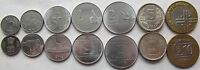 India set of 7 coins 1988-2009 (10+25+50 paise + 1+2+5+10 rupees) UNC