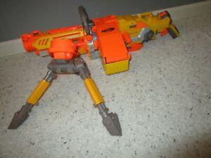NERF VULCAN EBF-25 DART BLASTER TOY GUN + TRIPOD AMMO BELT WORKS