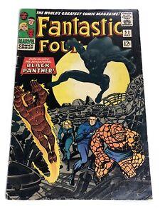 Fantastic Four 52 Marvel 1966 1st Black Panther. Inhumans Appearance!