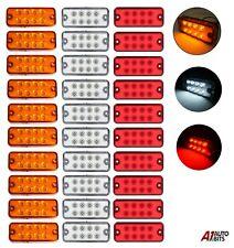 30x 8 Smd Led Red White Orange Side Marker Lights Position Truck Trailer 12 Volt