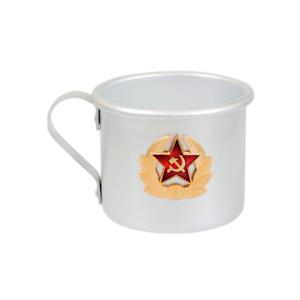 Aluminum Mug with USSR Soviet Star Emblem. Camping / Hiking Mug