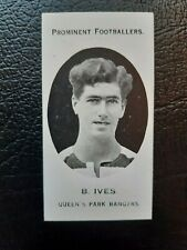 More details for taddy prominent footballers: b. ives qpr: (london mixture) rare 1914 card look!!