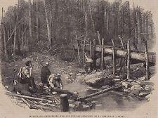 1864  --  CHERCHEURS D OR SUR UN AFFLUENT DE LA CHAUDIERE   CANADA   3H238