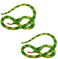 2 X Grande 230cm Gonfiabile Verde Serpente Hawaiano Spiaggia Jungle Party X99140