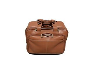 Hartmann rolling leather briefcase