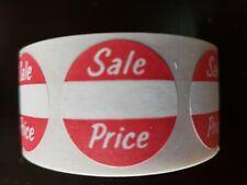 500 Self Adhesive Sale Price 1 Round Retail Merchandise Label Sticker Tag Red
