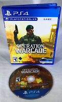 Operation Warcade (Sony PlayStation 4, 2018) CIB Complete PSVR Simulation FUN!