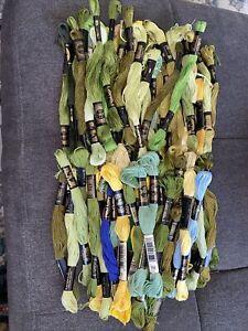 DMC Floss Lot Embroidery Thread Skeins 100 Skeins