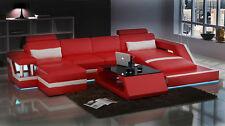 XXL Wohnlandschaft Sofa Couch Polster Sitz Garnitur Ecke Leder Textil HamburgIII