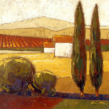 Karsten Kirchner: Casa Catarina Leinwand-Bild 20x20 Wandbild Toskana Landschaft