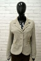 Giacca Donna REPLAY Taglia L Blazer Giubbino Jacket Woman Cotone Grigio Costine