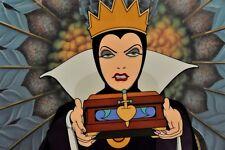 Disney Snow White CEL The Evil Queen RARE animation art edition cell Framed