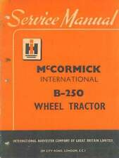 McCORMICK INTERNATIONAL TRACTOR B-250 MANUAL B250 B 250