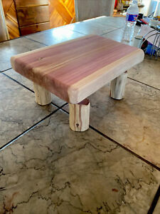 Rustic Step Stool Unfinished Aromatic Red Cedar
