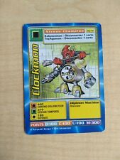 Clockmon MP-72 Rare French Digimon Card From Mega Pack