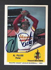Autographed Al Alfonso Pulido 1984 PCL Card #121 New York Yankees Mexico Pirates