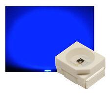 100 x SMD LED PLCC2 PLCC-2 BLAU max. 800 mcd ULTRAHELL