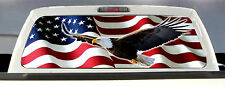 AMERICAN FLAG EAGLE PICK-UP TRUCK REAR WINDOW GRAPHIC DECAL PERFORATED VINYL..